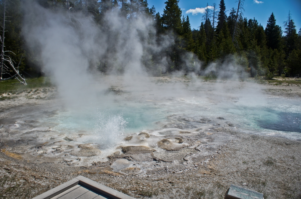Some small geyser activity