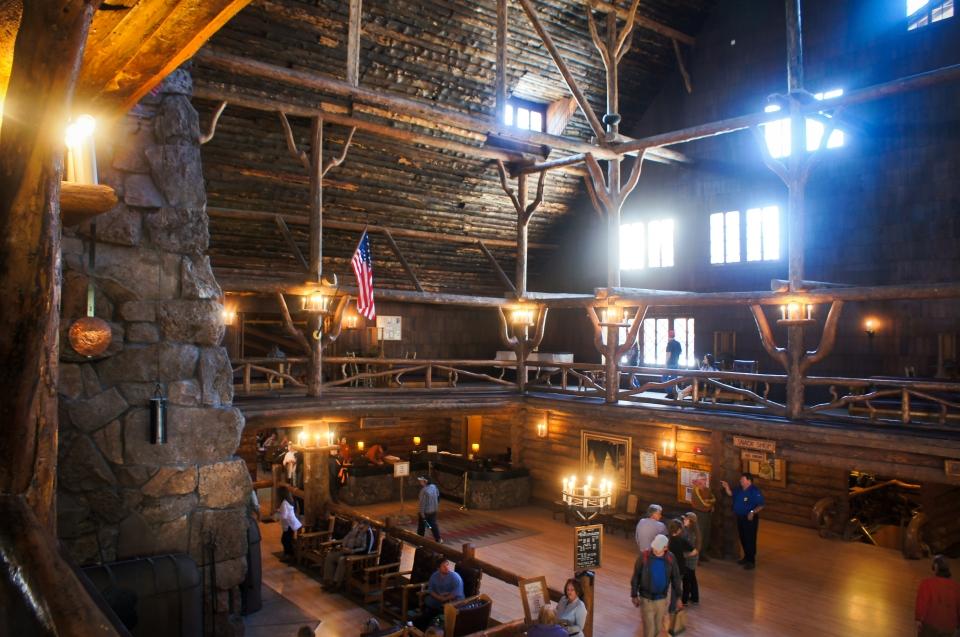 Inside of Old Faithful Inn