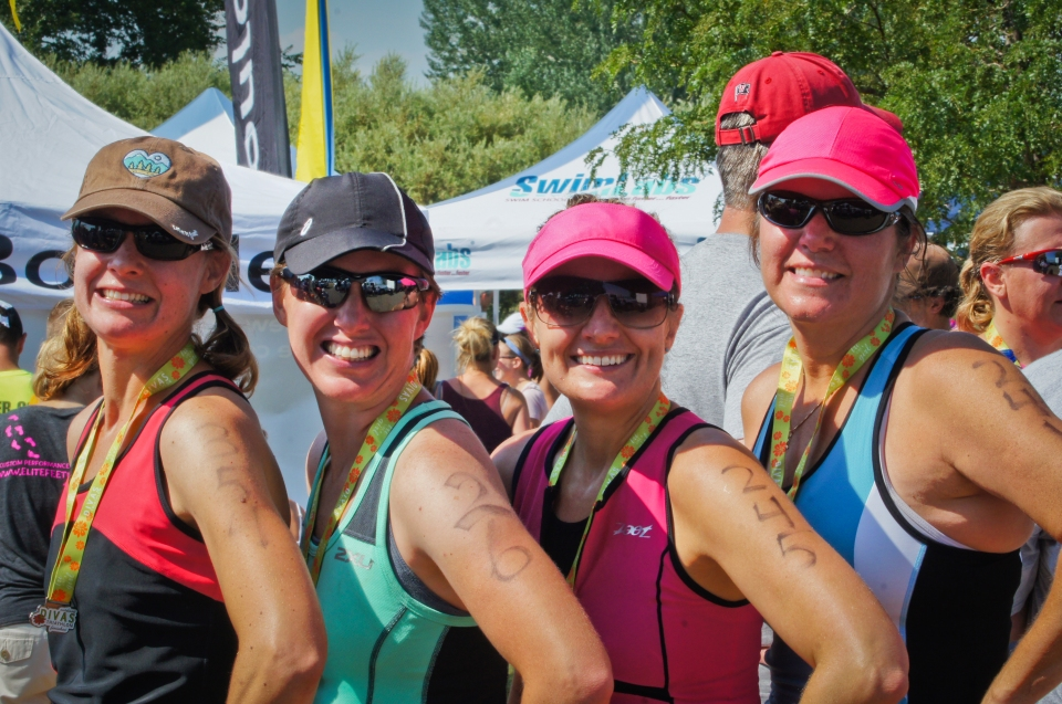 Haley, me, Bekah, and Amy at the finish