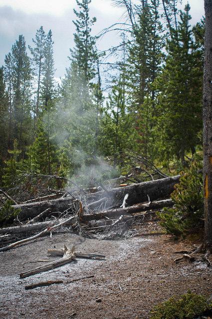Steam Hole behind Clear Lake