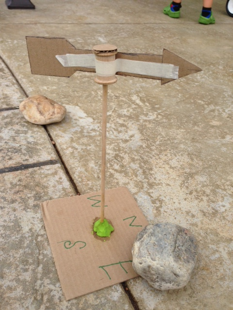Weather vane that we made this week, good reminder to make sure we are headed in the right direction...
