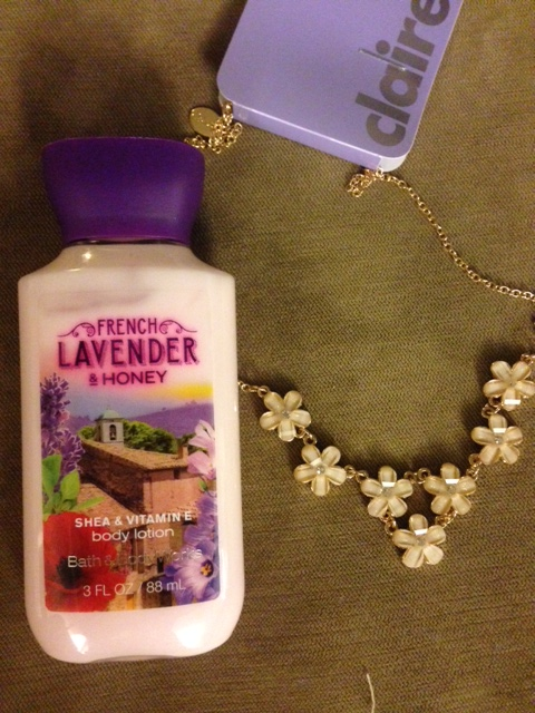 Lotion and necklace for Foster Mom