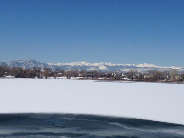 Beautiful lake....frozen and without ducks