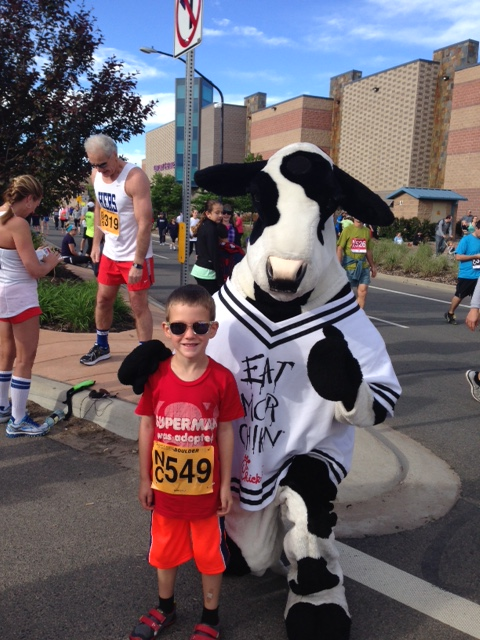 Waiting at the start line we met a cow