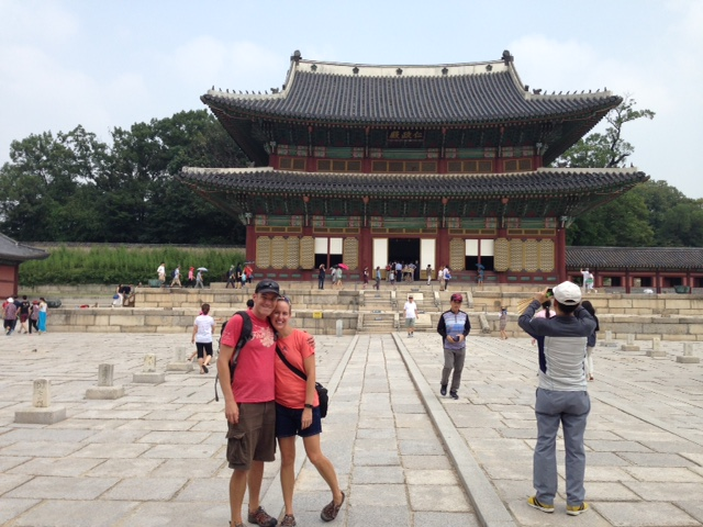 Clint and I in front of Changdeokgung Palace enterence