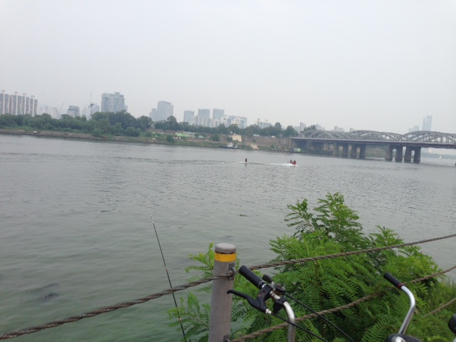 Looking out over the Han river, hazy but beautiful