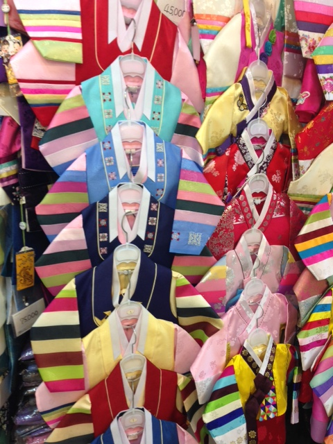 Hanboks (traditional Korean clothes) for sale