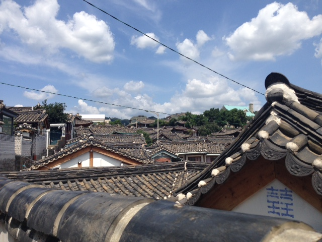 A number of Hanok roof tops