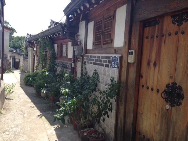 Row of Hanok houses