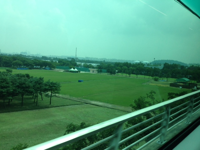 Train ride to the airport