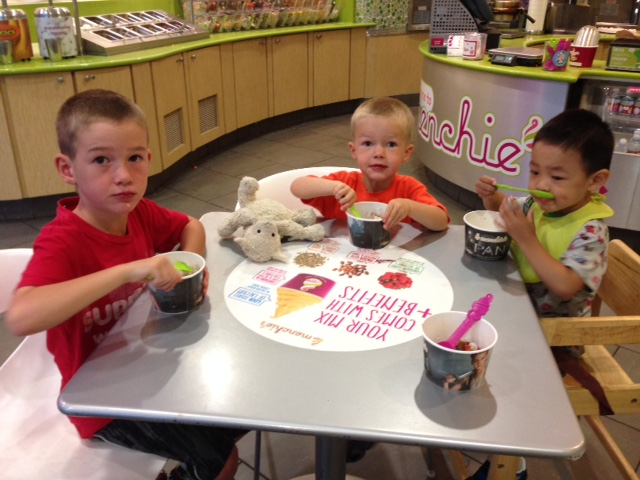 frozen yogurt night!
