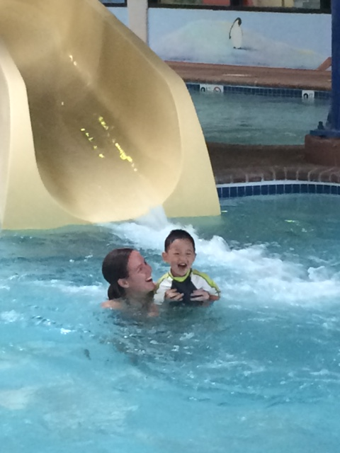 We did have fun at the pool!