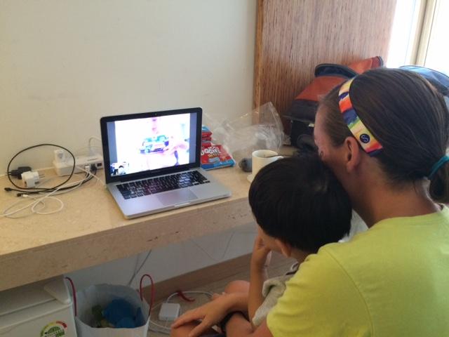 Skypping with Leighton and Caedmon