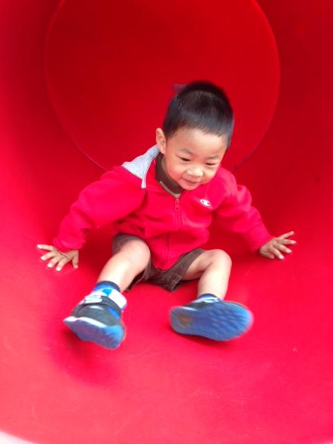 He loves slides