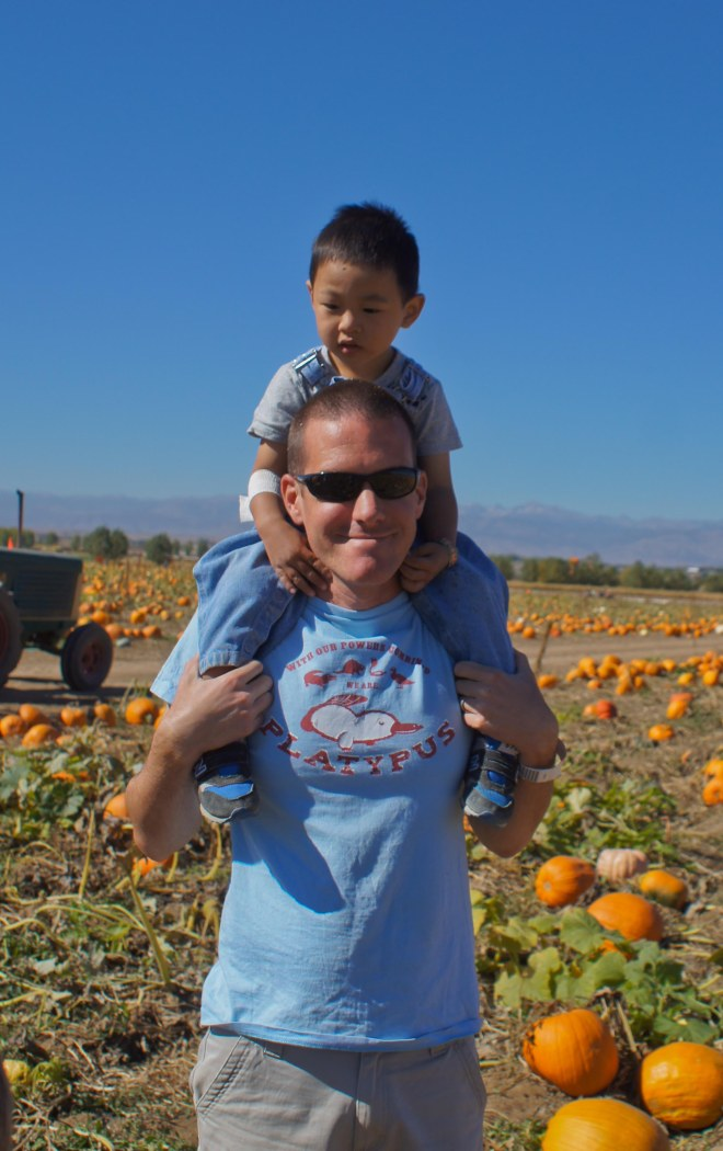 pumpkin patch with daddy