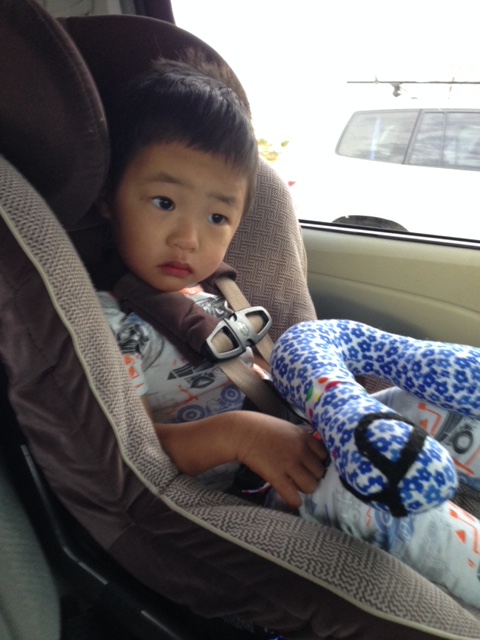 ready to head home, he was so excited to see his brothers