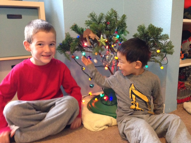 Leighton and Edric and their tree