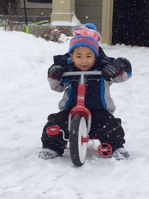 Clearly the best riding trike weather around