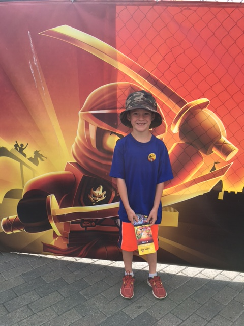 Leighton is a big fan of Ninjago, especially the red ninja