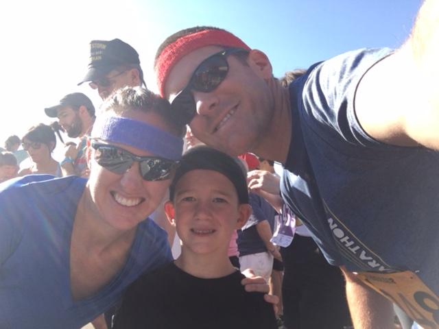 family start line selfie