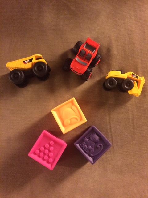 trucks and blocks